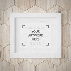 White frame mockup 8x10 mockup Matted frame Wall art by CGmockup