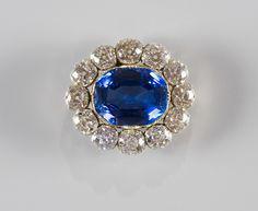 Broche saphir et diamants- Cadeau de mariage pour la Reine Victoria d'Angleterre