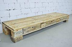 Palettenmöbel Lowboard No.4 Rustikal Sideboard TV Board Upcycling Shabby Massiv