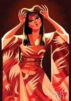 Kim Chi  Kimono Postcard by ChadSellComics on Etsy
