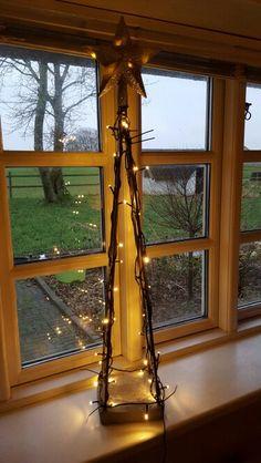 """""""Juletræ"""" med lys"""