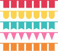 assorted banner buntings-----------I think I'm in love with this shape from the Silhouette Design Store!