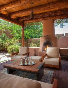 outdoor sitting area, Southwest meets modern, by Violante & Rochford Interiors, photo credit © Wendy McEahern