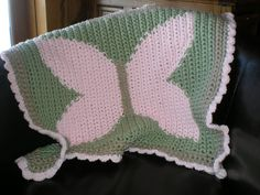 Ravelry: Quick & Cozy Crochet Baby Blanket - Baby Butterfly pattern by Tara Cousins