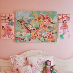 Oopsy Daisy - Cherry Blossom Birdies Canvas (24 X 18) by Oopsy Daisy | Toys | chapters.indigo.ca