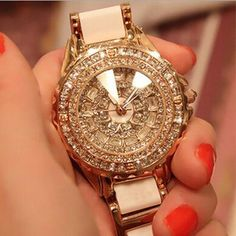 Limited Edition!! Royal Watches Luxury Diamond Ceramic Strap Rose Gold Dress Wedding Quartz Wrist Watch Gift For Ladies Watches For Sale Online Watches Sale Online From Casey448, $272.26| Dhgate.Com