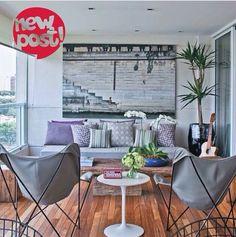Varanda. Sala de estar na varanda. Mais inspirações no nosso blog!