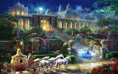 Thomas Kinkade y sus preciosas pinturas de películas Disney Wallpaper Iphone Disney, Cute Disney Wallpaper, Disney Art, Disney Movies, Disney Fantasy, Thomas Kinkade Art, Thomas Kinkade Disney Paintings, Midnight Cinderella, Kinkade Paintings