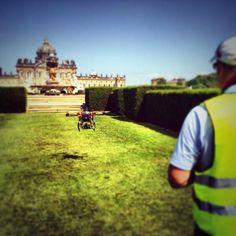 Preparing to soar over Castle Howard Aerial Filming, Aerial Camera, Castle Howard, Yorkshire, Yorkshire Terrier Puppies