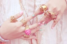 fashion girly jewelry pink rings gem pink rings ring stack gold and pink ring for fashion women styles Cute Jewelry, Jewelry Rings, Jewelry Box, Gold Jewelry, Vintage Jewelry, Sparkly Jewelry, Jewellery Boxes, Jewelry Storage, Vintage Rings