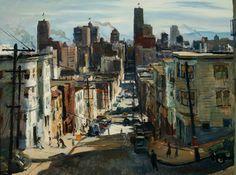 "William Jekel, ""San Pedro Street,"" 1947, watercolor on paper, 15 x 22 in. Hilbert Museum of California Art.  9_kosa_san_francisco.jpg"