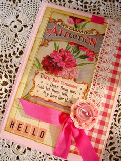 Shabby Cottage Chic Card