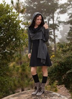 Basic Cropped Wrap throw jacket hoodie by ElvenForest on Etsy