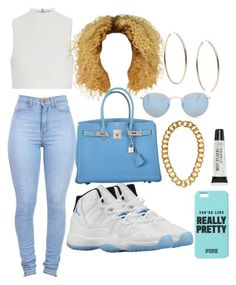 """""""Untitled #30"""" by yaritzaj ❤ liked on Polyvore featuring Retrò, Elizabeth and James, Hermès, Michael Kors, Kenneth Jay Lane, Ray-Ban and Torrid"""