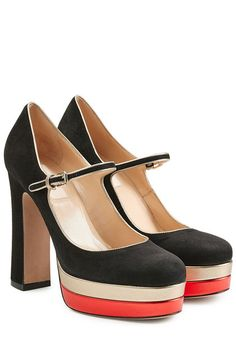 Pumps Mary Jane aus Veloursleder | Valentino