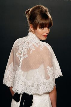love the buttons down the back...though i would get this made as a long sleeve, not a shrug. Anna Nieman is a Boston based bridal designer...she makes amazing custom bridal jackets. can't wait to see the sketches she comes up with for me!