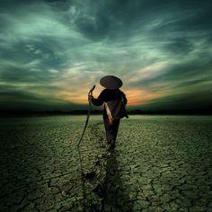 way to the horizon by Kittiwut Chuamrassamee