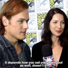 """""""You haven't lived until you heard Sam Heughan say 'honeypot'."""""""
