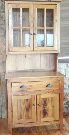 Hutch made from your choice of reclaimed barn wood FREE Woodworking Furniture, Woodworking Plans, Woodworking Projects, Woodworking Organization, Woodworking Supplies, Custom Furniture, Wood Furniture, Furniture Design, Furniture Vintage