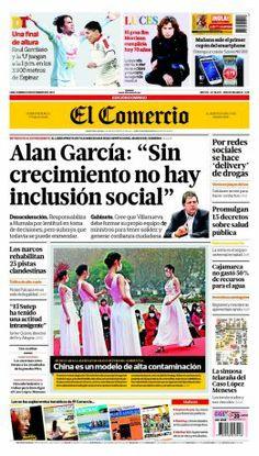 """¡Buenos días! #NuestraPortada. Alan García: """"Sin crecimiento no hay inclusión social"""""""