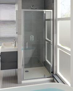 Bruynzeel douchecabine Cilo draaideur  // douche douchecabine badkamer sanitair // bathroom shower enclosure hinge door // salle de bain porte pivotante