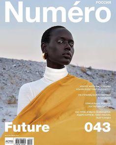Ajak Deng for Numero Magazine, September 2017 Issue. Photographed by Egor Tsodov.