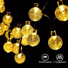 RECESKY Battery Operated Crystal Ball String Lights 30 LED 20.8ft Fairy Globe Decor Lighting for Outdoor, Indoor, Garden, Festival, Garland, Wreath, Xmas, Christmas Tree Decorations (Warm White) >> To view further, visit now : Christmas decor