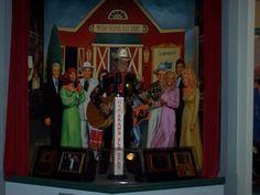 WSM Grand Ole Opry Display - George Jones, Dottie West, Ernest Tubb, Little Jimmy Dickens, Dolly Parton, Johnny Cash, Tammy Wynette.