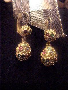 Signed Joan Rivers Vintage Dangle Earrings by JennieJamesResale, $20.99