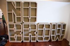 Heavy Duty Cardboard construction- Typography shelves-Nobrow – 'Pick Me Up' 2011