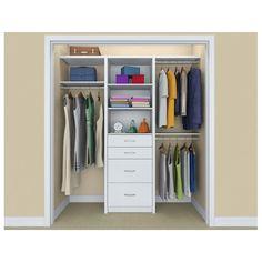 ClosetMaid SpaceCreations 52 W - 87 W Closet System Color: Closet Remodel, Closet System, Bedroom Closet Design, Closet Kits, Home Decor, Closet Designs, Apartment Decor, Closetmaid, Apartment Decorating On A Budget