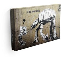 Our Banksy Star Wars canvas print, makes a beautiful addition to any room. Comes ready to hang and also available as a poster Modern Canvas Art, Large Canvas Wall Art, Map Canvas, Abstract Canvas Art, Banksy Canvas Prints, Banksy Wall Art, Best Canvas Prints, Nurse Art, Mid Century Wall Art