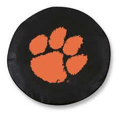 Clemson Tigers Black Tire Cover w/ Security Grommets