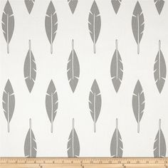 Premier Prints Feather Silhouette Twill White/Storm from @fabricdotcom  Screen printed on cotton twill; this versatile lightweight (approx. 5.7 ounce) fabric is perfect for window treatments (draperies, valances, curtains and swags), toss pillows, bed skirts, duvet covers, some upholstery and other home decor accents. Create handbags, apparel (skirts, lightweight jackets, pants) and aprons.