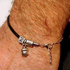 Mens+Silver+Bracelet,+Initials,+Zodiac,+Buddha+from+CamelysUnikatBijoux+by+DaWanda.com