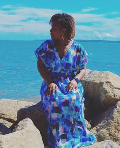 Photo by Shontae on June 18, 2020. Image may contain: 1 person, standing, ocean, sky, child, outdoor, water and nature Kaftan Pattern, Sewing Patterns, Cover Up, June, Artsy, Ocean, Child, Sky, Photo And Video