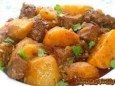 Recipe Collector, Stewed Potatoes, Romanian Food, Pot Roast, Sweet Potato, Pork, Appetizers, Vegetables, Ethnic Recipes