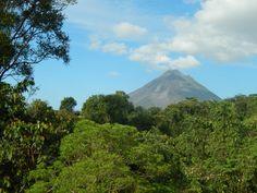 Arenal is still simmering! Forest Habitat, Adventure Activities, Tropical Garden, Costa Rica, Habitats, Lush, Cottage, Vacation, Travel