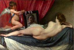 El desnudo de espalda por excelencia es La Venus del espejo del pintor sevillano Diego Veláquez. La mitología propició un acercamiento al desnudo, un tema cargado de conotaciones.