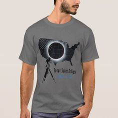 Total Solar Eclipse 2017 with transparent USA map T-Shirt Transparent USA map- 2017 Total Solar Eclipse on A total solar eclipse will take place on Monday, August 2017 Types Of T Shirts, Tshirt Colors, Funny Tshirts, Casual Shirts, Fitness Models, Unisex, Sleeves, Mens Tops, How To Wear