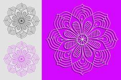 Flower Mandala SVG PNG Cut Files for Vinyl Cutters affinity designer Simple Mandala, Affinity Designer, Vinyl Cutter, Flower Mandala, Mandala Design, Circuit, Vector Free, Printing, Flowers