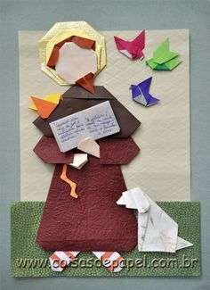 DIY Catholic Saint Origami! St. Francis of Assisi Origami Tutorial!  This is an awesome craft and can easily be adapted to make other saints!