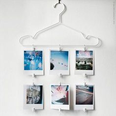 Poppytalk: 10 Stunning IKEA Hacks + Ideas from the Pros. Hanger Photo Display A fun way to display this summer's best memories with STAJLIG hanger and SYRLIG curtain ring hooks. Ikea Hacks, Hacks Diy, Decoration Ikea, Ikea Decor, Ikea Hangers, Home Decor Bedroom, Diy Home Decor, Ideias Diy, Curtains With Rings