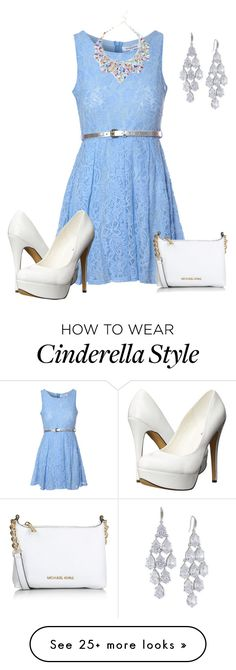 """Look Like Cinderella"" by aowens99 on Polyvore featuring Glamorous, Michael Antonio, Michael Kors, Carolee, women's clothing, women, female, woman, misses and juniors"