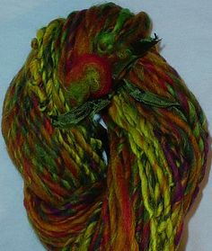Handspun Yarn  Freesia Merino Wool Yarn  80 Yards 2 oz by kgmcats, $22.00