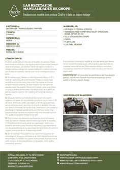 Restaura un mueble paso a paso ;) #chalky http://artesaniachopo.com/decoracion/tutorial-restaura-mueble-con-pintura-chalky-dale-toque-vintage/