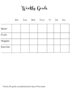 {I Love} My Disorganized Life: Easy Goal Sheet {for aiding weight loss}
