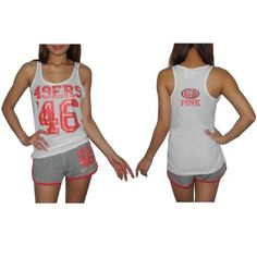 Amazon.com  Womens Pink Victoria s Secret NFL San Francisco 49ers  46  Sports Tank b5699e042ee