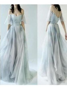 Sale Morden Cheap Prom Dresses Beautiful Prom Dresses A-line Off-the-shoulder Cheap Long Prom Dress/Evening Dress Grey Prom Dress, A Line Prom Dresses, Cheap Prom Dresses, Formal Evening Dresses, Modest Dresses, Wedding Dresses, Long Dresses, Sexy Dresses, Modest Clothing