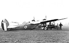 Bristol 95 Bagshot (1927) heavy fighter prototype with two 37mm cannons
